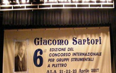 """PARTICIPACIÓN EN LA 7ª EDIZIONE DEL CONCORSO INTERNAZIONALE """"GIACOMO SARTORI"""" EN ALA, TRENTO (ITALIA)"""